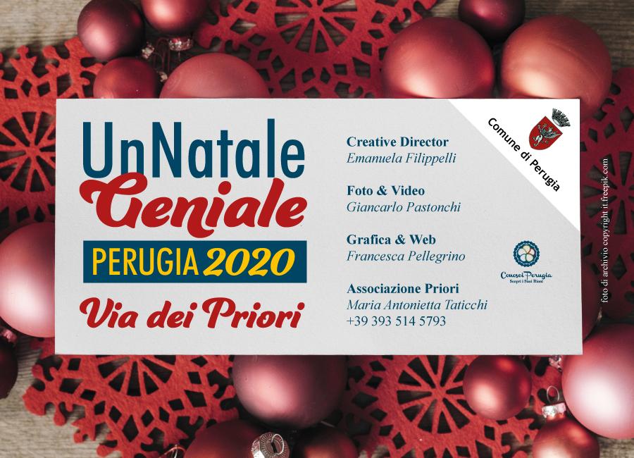 Un Natale Geniale. Via Dei Priori. Perugia 2020
